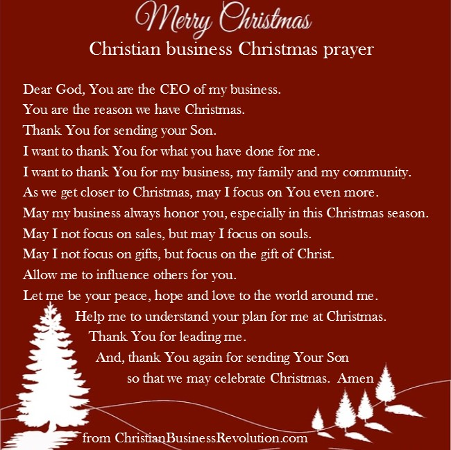 Christmas business prayer